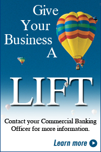 Gife your business a LIFT with a business loan from Hills Bank. Contact your Commercial Banking Officer for more information.  Click to learn more!