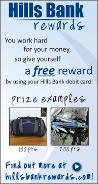 Tell a friend about Hills Bank and earn extra money! Click to find out more!