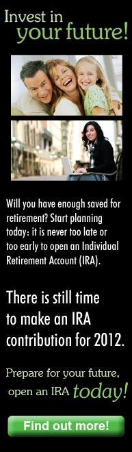 Invest in your future and open an IRA today!