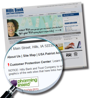 Hills Bank Customer Protection